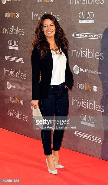 Laura Madrueno attends 'Invisibles ' charity premiere at Callao cinema on November 23 2015 in Madrid Spain