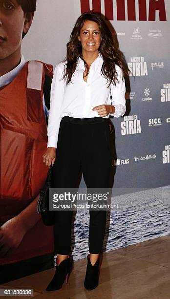 Laura Madrueno attends 'Nacido En Siria' premiere at Palafox cinema on January 11 2017 in Madrid Spain