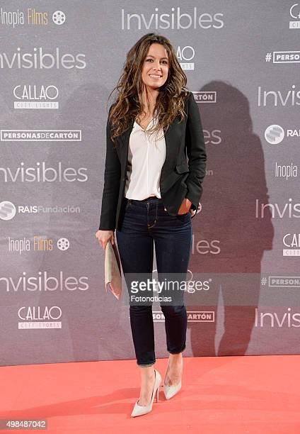 Laura Madrueno attends the 'Invisibles' Premiere at Callao Cinema on November 23 2015 in Madrid Spain