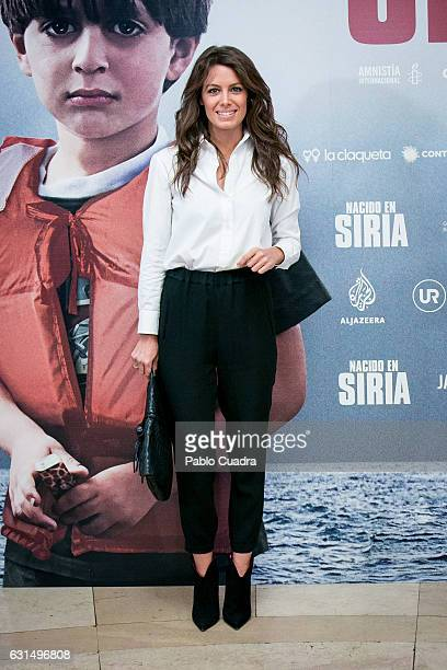 Laura Madrueno attends the 'Nacido En Siria' premiere at Palafox Cinema on January 11 2017 in Madrid Spain