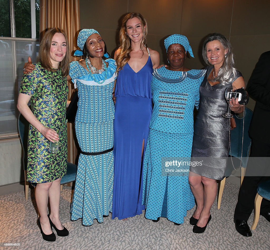 Laura Main, Her Excellency Mrs Felling Mamakeka Makeka, Joss Stone, Malineo Motsephe and guest attend the Sentebale Summer Party at the Dorchester Hotel on May 7, 2014 in London, England.