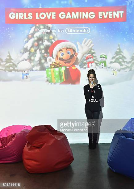 Laura Marano actress and recording artist hosts the Nintendo 3ds Girls Love Gaming event at Lightbox on November 5 2016 in New York City