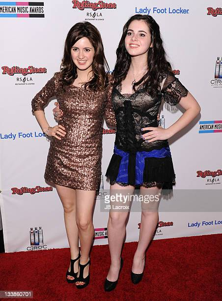 Laura Marano and Vanessa Marano arrive at the Rolling Stone 2nd Annual AMA afterparty at Rolling Stone Restaurant And Lounge on November 20 2011 in...