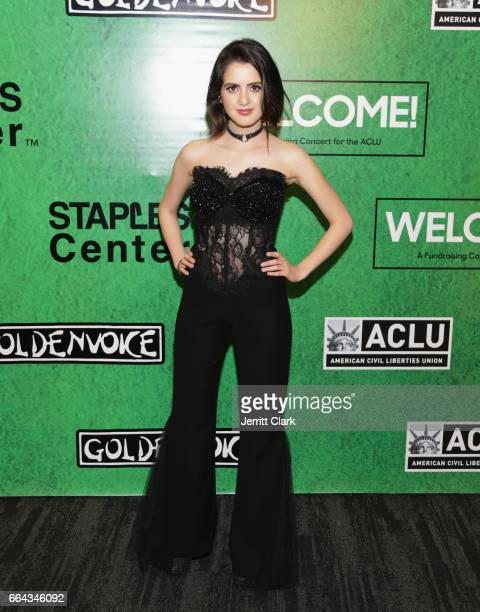 Laura Marano arrives at Zedd Presents WELCOME Fundraising Concert Benefiting The ACLU at Staples Center on April 3 2017 in Los Angeles California
