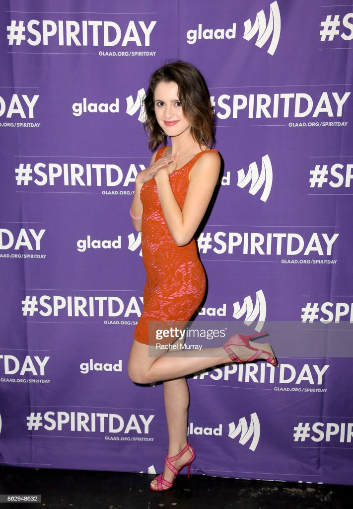 Laura Marano at Justin Tranter And GLAAD Present 'Believer' Spirit Day Concert at Sayer's Club on October 18, 2017 in Los Angeles, California.