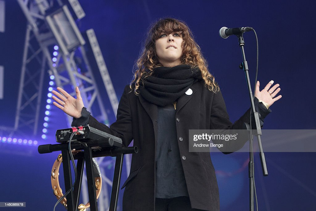 Laura Marin of Phenomenal Handclap Band performs on stage during Park Life Festival at Platt Fields Park on June 9, 2012 in Manchester, United Kingdom.