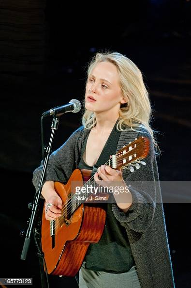 Laura Marling performs on stage as part of the Other Voices Festival at Wilton's Music Hall on April 5 2013 in London England