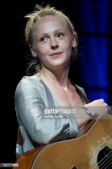 Laura Marling performs on stage during the iTunes Festival at The Roundhouse on July 9 2010 in London England