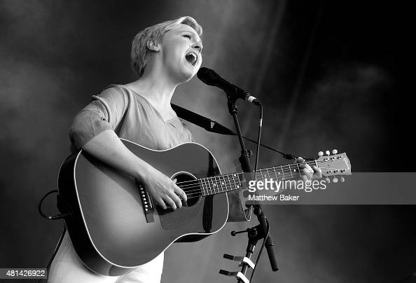 Laura Marling performs on the Obelisk Arena stage on day 3 of Latitude Festival at Henham Park Estate on July 18 2015 in Southwold England
