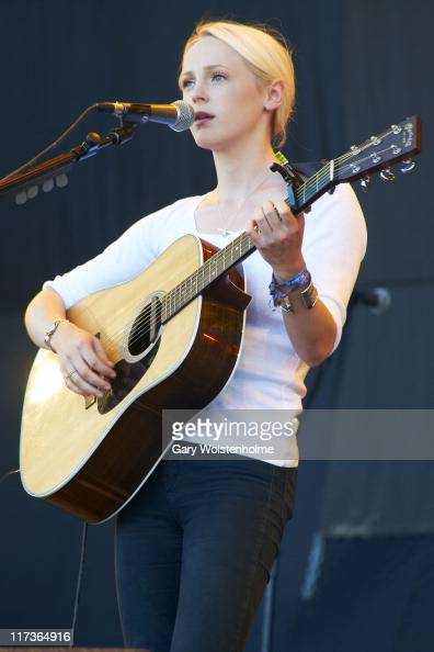 Laura Marling performs on The Pyramid Stage during the fourth and final day of Glastonbury Festival 2011 at Worthy Farm on June 26 2011 in...