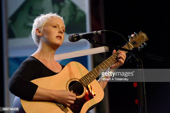 Laura Marling performs onstage at Radio Day Stage during the 2015 SXSW Music Film Interactive Festival at Austin Convention Center on March 18 2015...