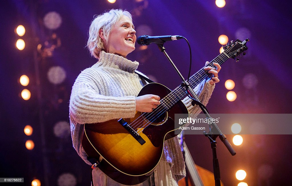 Laura Marling performs the headline set on the third day of the BBC 6 Music Festival at Colston Hall on February 14, 2016 in Bristol, England.
