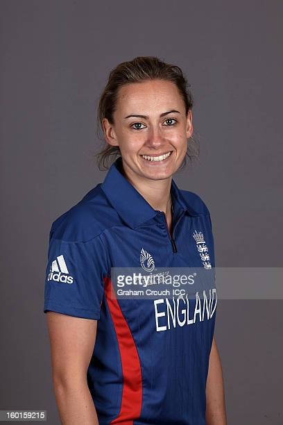 Laura Marsh of England attends a portrait session ahead of the ICC Womens World Cup 2013 at the Taj Mahal Palace Hotel on January 27 2013 in Mumbai...
