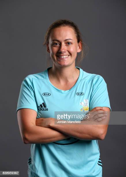 Laura Marsh of Surrey Stars poses for a portrait during the Surrey Stars Photo Shoot at the Surrey Cricket Centre on August 7 2017 in Guildford...