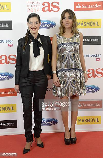 Laura Martinez and Ines de Miguel attend the 2014 AS Sports Awards at The Westin Palace Hotel on December 15 2014 in Madrid Spain