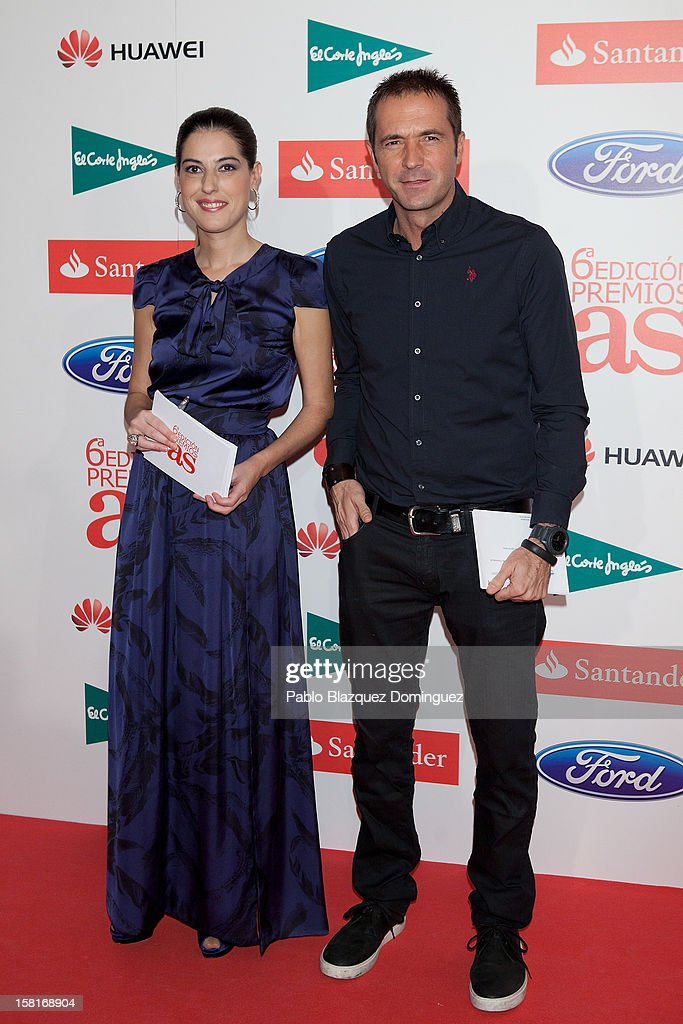 Laura Martinez and Manu Carreno attend 'As Del Deporte' Awards 2012 at The Westin Palace Hotel on December 10, 2012 in Madrid, Spain.