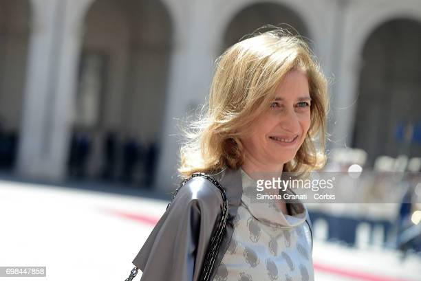 Laura Mattarella during the visit of the Royals of the Netherlands at the Quirinale on June 20 2017 in Rome Italy