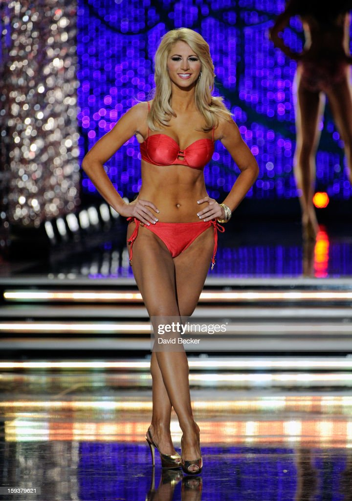Laura McKeeman, Miss Florida, competes in the swimsuit competition during the 2013 Miss America Pageant at PH Live at Planet Hollywood Resort & Casino on January 12, 2013 in Las Vegas, Nevada.