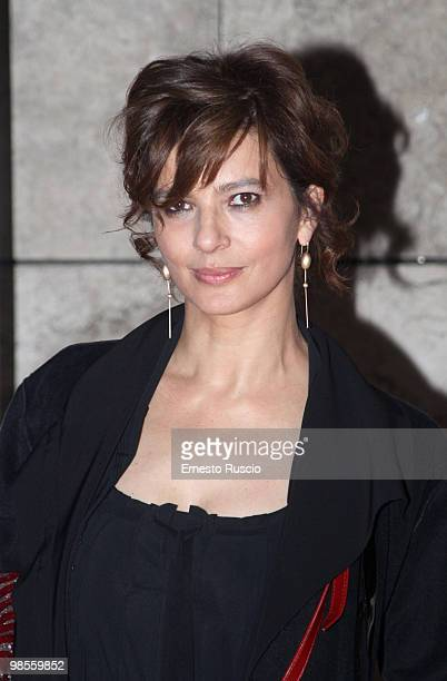 Laura Morante attends the 'Agora' premiere at Ara Pacis on April 19 2010 in Rome Italy