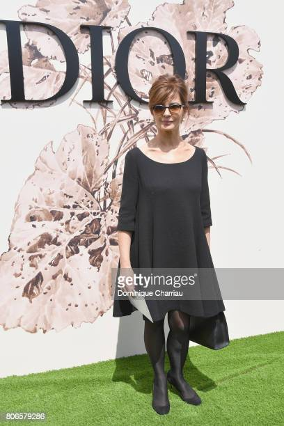 Laura Morante attends the Christian Dior Haute Couture Fall/Winter 20172018 show as part of Haute Couture Paris Fashion Week on July 3 2017 in Paris...