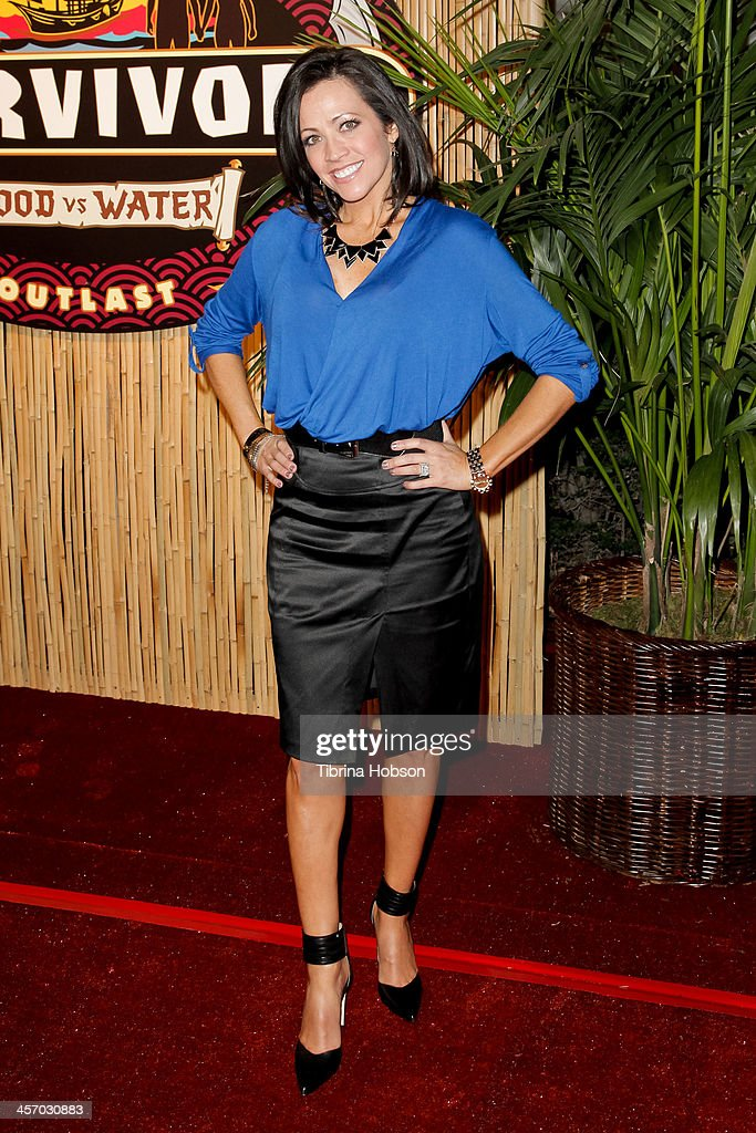 Laura Morett attends the 'Survivor Blood Vs Water' season finale at CBS Television City on December 15 2013 in Los Angeles California
