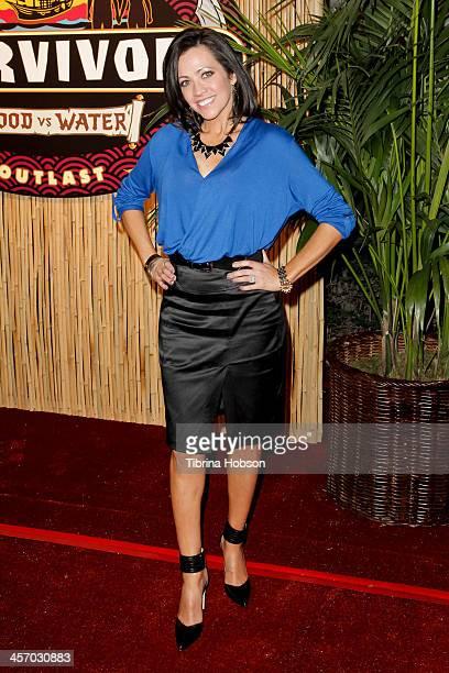 Laura Morett attends the 'Survivor Blood Vs Water' season finale at CBS Television City on December 15 2013 in Los Angeles California