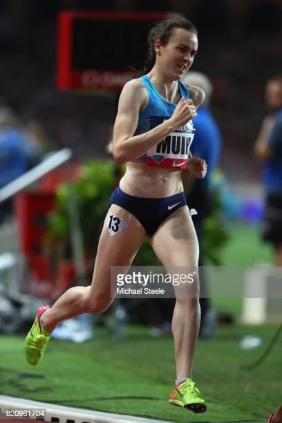 Laura Muir of Great Britain in the women's 3000m race during the IAAF Diamond League Meeting Herculis on July 21 2017 in Monaco Monaco