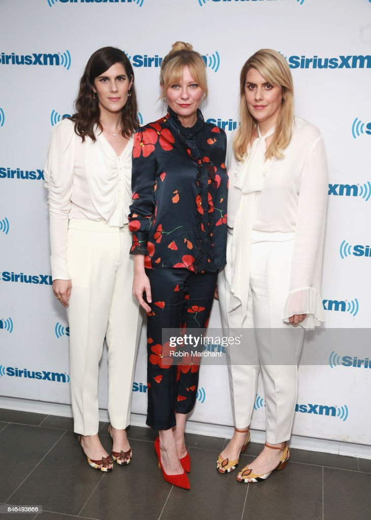 Laura Mulleavy, Kirsten Dunst, and Kate Mulleavy visit at SiriusXM Studios on September 13, 2017 in New York City.