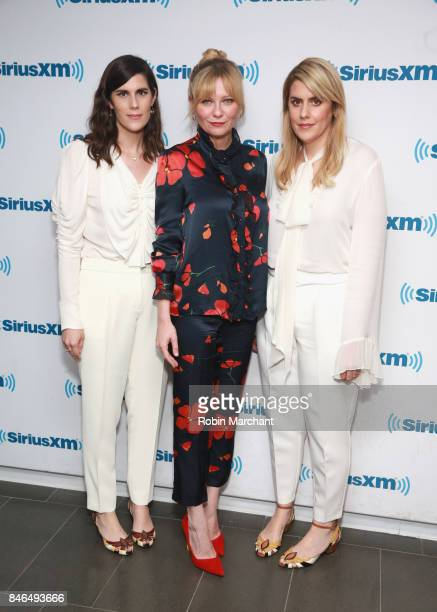 Laura Mulleavy Kirsten Dunst and Kate Mulleavy visit at SiriusXM Studios on September 13 2017 in New York City