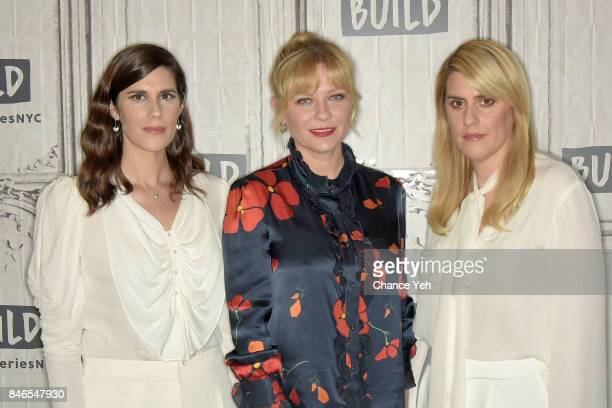 Laura Mulleavy Kirsten Dunst Kate Mulleavy attend Build series to discuss 'Woodshock' at Build Studio on September 13 2017 in New York City