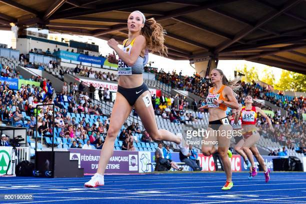 Laura Muller of Germany compete in the Women's 400m heat 1 during day 1 of the European Athletics Team Championships at the Lille Metropole stadium...