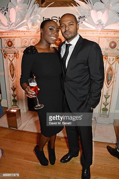 Laura Mvula and Noel Clarke attend the InStyle Best of British Talent party in celebration of BAFTA in association with Lancome and Sky Living at...