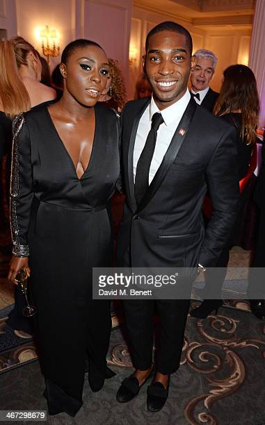 Laura Mvula and Tinie Tempah attend The Prince's Trust Invest In Futures dinner at The Savoy Hotel on February 6 2014 in London England