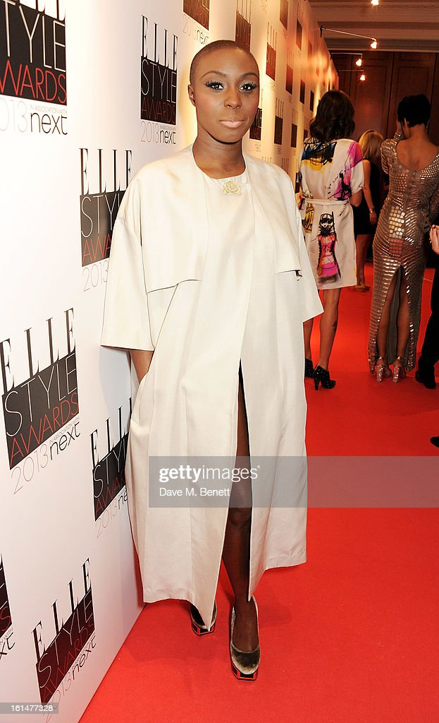 Laura Mvula arrives at the Elle Style Awards at The Savoy Hotel on February 11, 2013 in London, England.