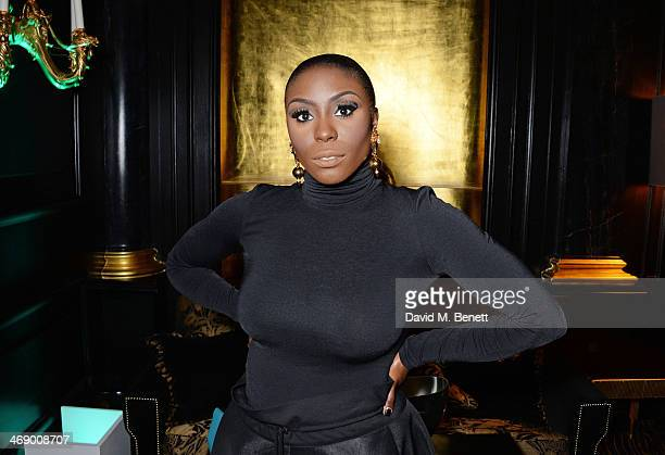 Laura Mvula attends a party hosted by EE and Esquire at The Savoy Hotel ahead of the 2014 EE British Academy Film Awards on February 12 2014 in...