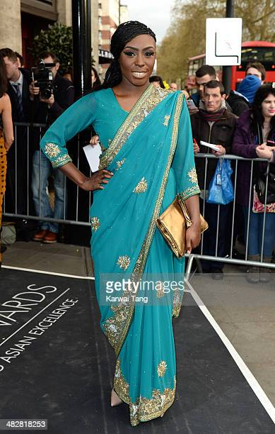 Laura Mvula attends The Asian Awards held at The Grosvenor House Hotel on April 4 2014 in London England