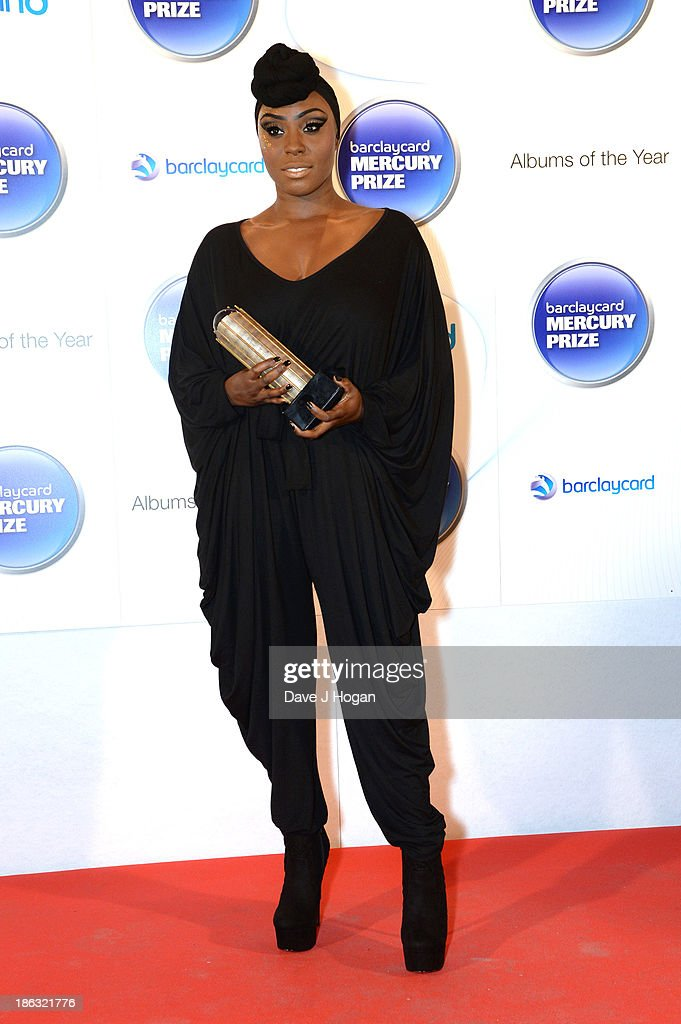 Laura Mvula attends the Barclaycard Mercury Prize 2013 at The Roundhouse on October 30, 2013 in London, England.
