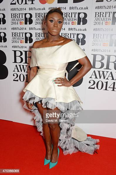 Laura Mvula attends The BRIT Awards 2014 at the 02 Arena on February 19 2014 in London England