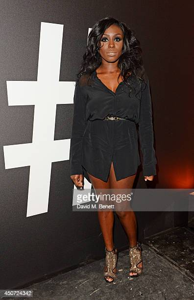 Laura Mvula attends the Harvey Nichols presentation of #BEENTRILL# designer collaboration during London Collections Men at The Vaults on June 16 2014...