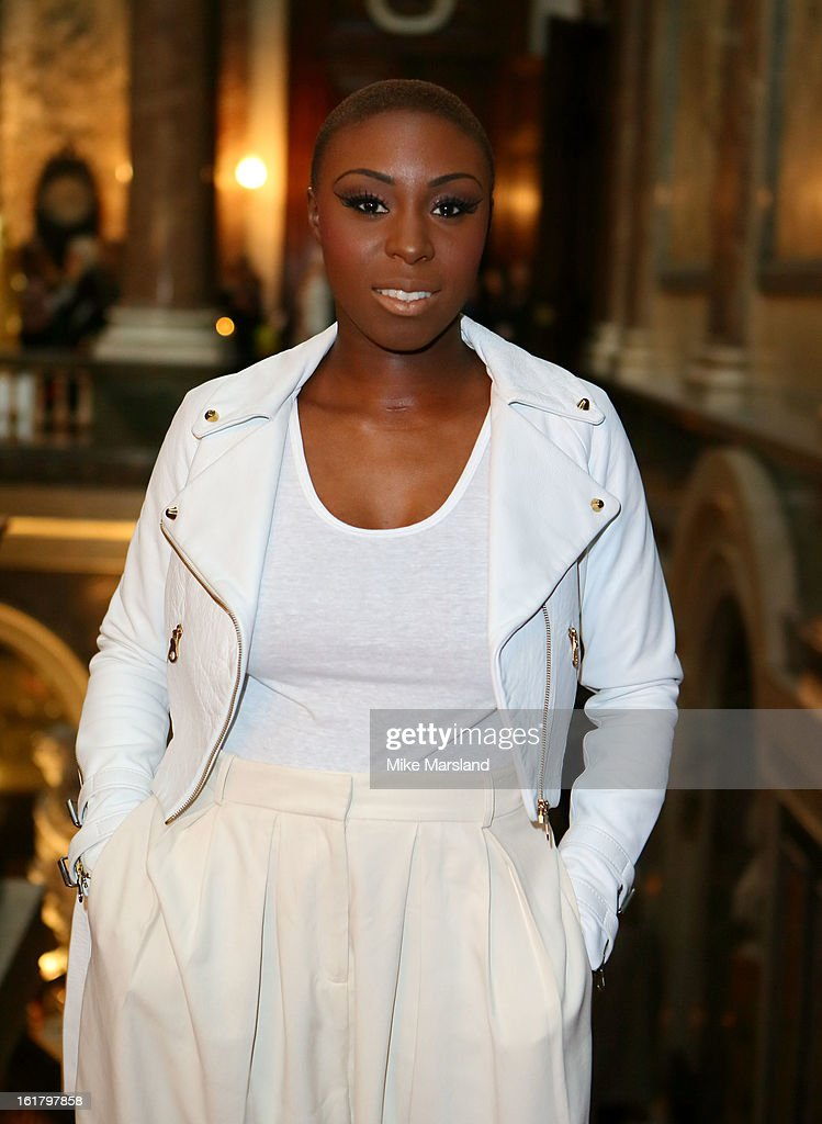 <a gi-track='captionPersonalityLinkClicked' href=/galleries/search?phrase=Laura+Mvula&family=editorial&specificpeople=10006726 ng-click='$event.stopPropagation()'>Laura Mvula</a> attends the Julien Macdonald show during London Fashion Week Fall/Winter 2013/14 at Goldsmiths' Hall on February 16, 2013 in London, England.