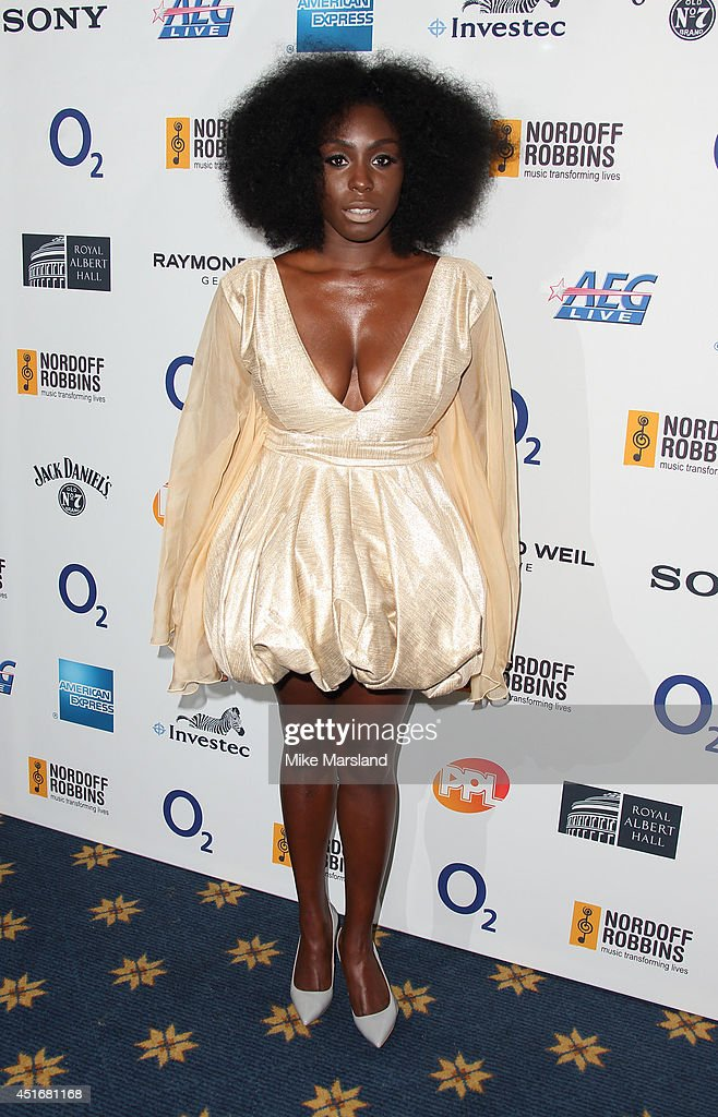 <a gi-track='captionPersonalityLinkClicked' href=/galleries/search?phrase=Laura+Mvula&family=editorial&specificpeople=10006726 ng-click='$event.stopPropagation()'>Laura Mvula</a> attends the Nordoff Robbins 02 Silver Clef awards at London Hilton on July 4, 2014 in London, England.