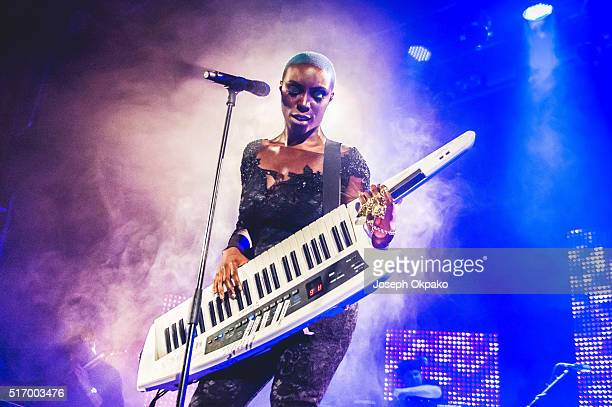 Laura Mvula performs at Islington Assembly Hall on March 21 2016 in London England