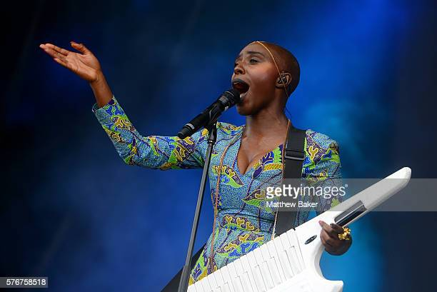 Laura Mvula performs at Latitude Festival at Henham Park Estate on July 17 2016 in Southwold England