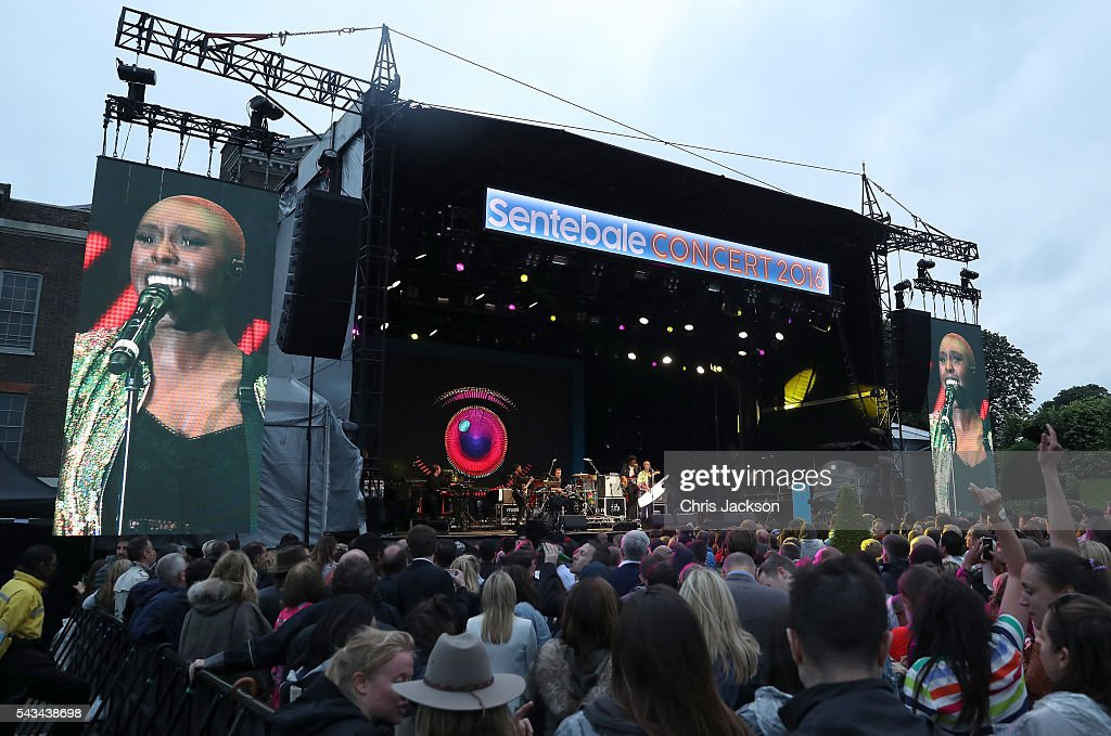 <a gi-track='captionPersonalityLinkClicked' href=/galleries/search?phrase=Laura+Mvula&family=editorial&specificpeople=10006726 ng-click='$event.stopPropagation()'>Laura Mvula</a> performs on stage during the Sentebale Concert at Kensington Palace on June 28, 2016 in London, England. Sentebale was founded by Prince Harry and Prince Seeiso of Lesotho over ten years ago. It helps the vulnerable and HIV positive children of Lesotho and Botswana.