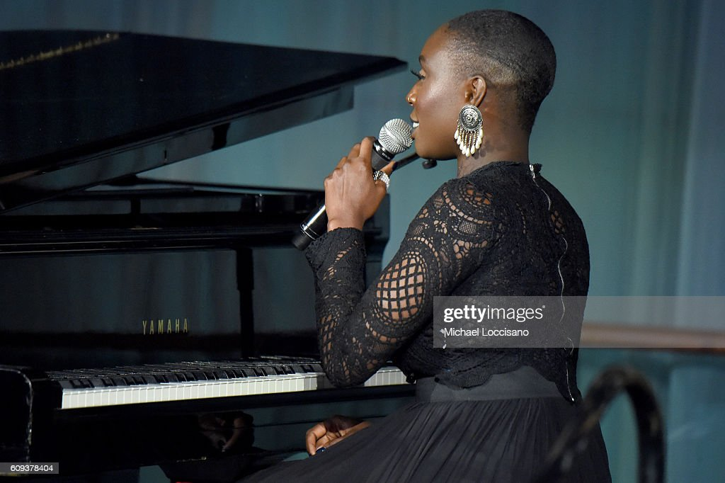 Laura Mvula performs onstage during 2016 Global Goals Awards Dinner at Gustavino's on September 20, 2016 in New York City.