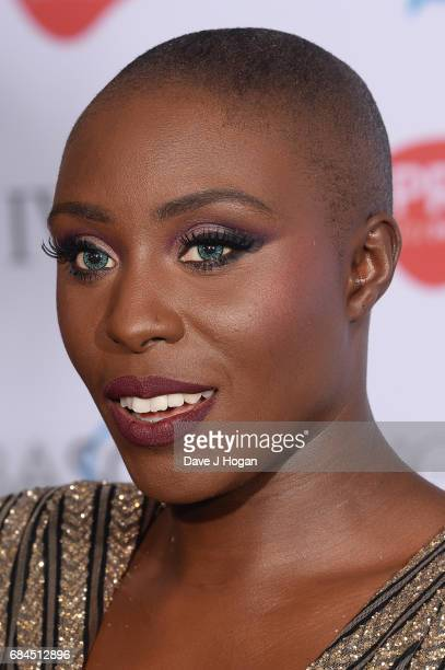 Laura Mvula poses in the winners room at the Ivor Novello Awards at Grosvenor House on May 18 2017 in London England