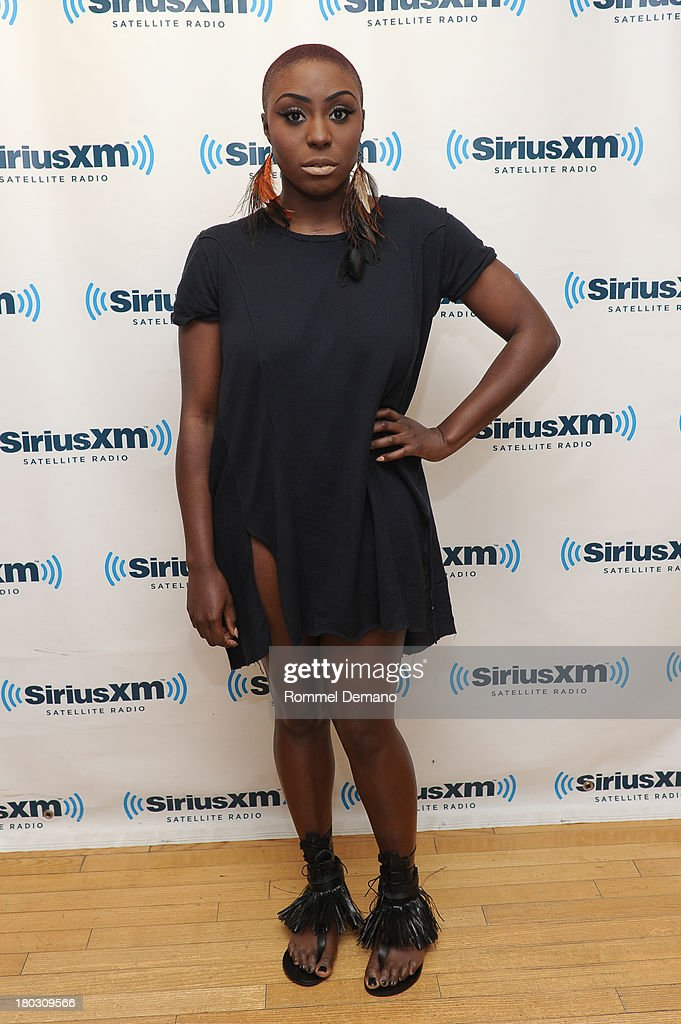 Laura Mvula visits SiriusXM Studios on September 11, 2013 in New York City.