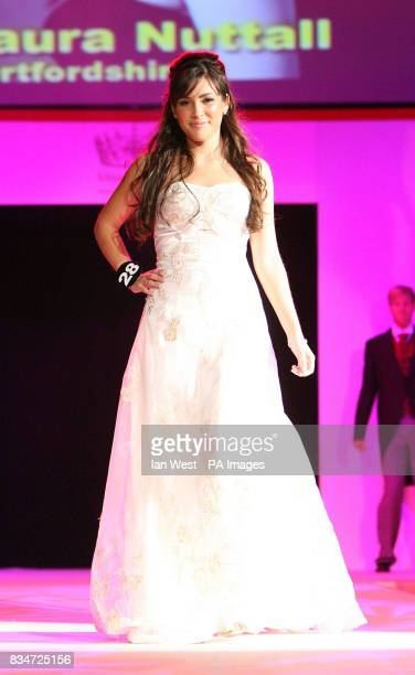 Laura Nuttall aged 18 from Hertfordshire pictured during the Miss England 2008 Grand Final at Troxy in east London