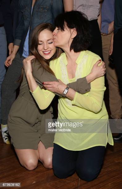 Laura Osnes and Beth Leavel attend the Actors' Equity Broadway Opening Night Gypsy Robe Ceremony honoring Kevin Worley from 'Bandstand' at the...