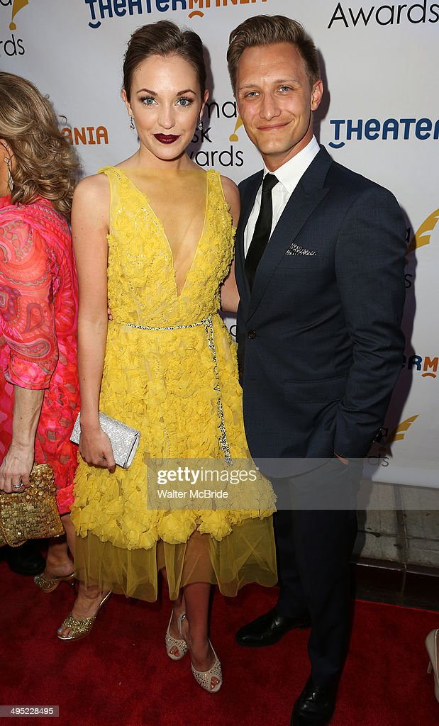Laura Osnes and husband Nathan Johnson attends the 2014 Drama Desk Awards at Town Hall on June 1, 2014 in New York City.